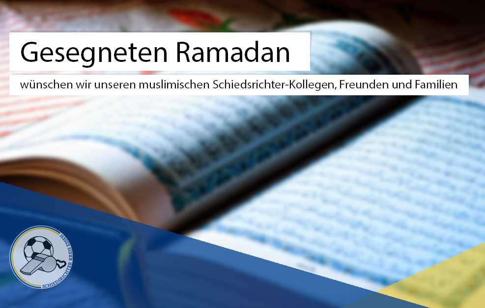 Gesegneten Ramadan…